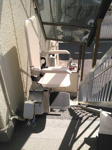 安い中古階段昇降機(段差解消機)スギヤス屋外用SEO9-2